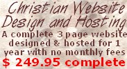 A complete website designed and hosted for $279.95